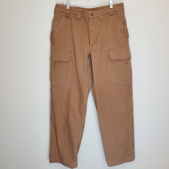 Duluth Trading Fire hose flannel lined cargos N